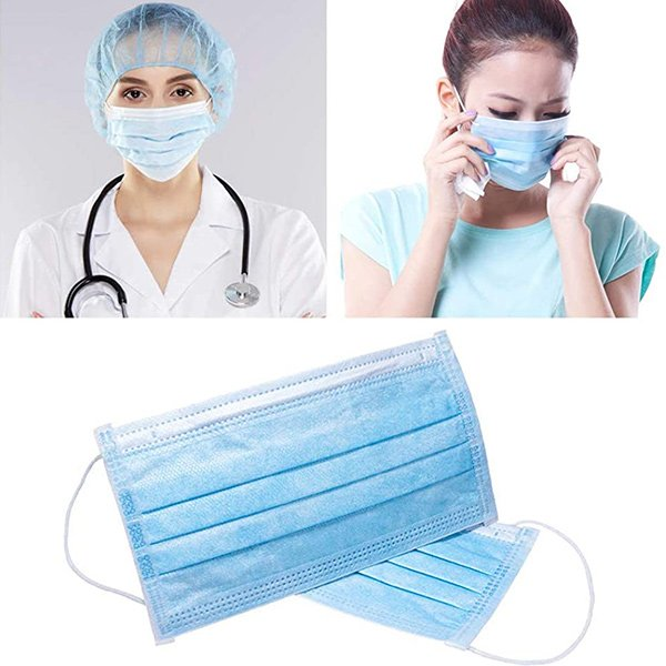 Χειρουργική Μάσκα Προστασίας Τριών Στρώσεων (3ply) Μίας Χρήσης (Τεμάχιο)