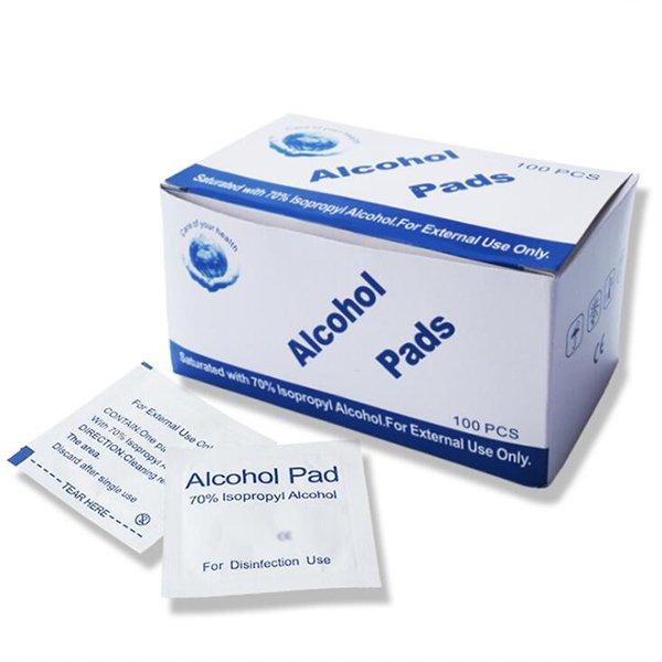 Αντισηπτικά μαντηλάκια με 75% Αιθυλική Αλκοόλη - Κουτί 100 τεμαχίων