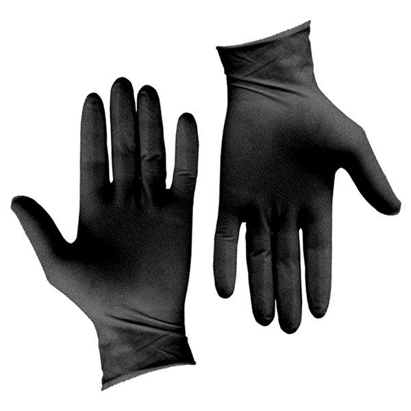 Γάντια Νιτριλίου Έξτρα Αντοχής (Μαύρα, Medium) Σετ 100 Τεμαχίων