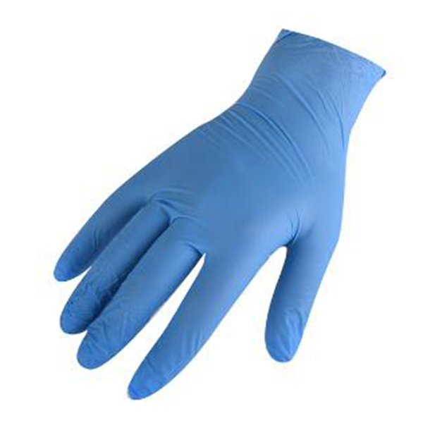 Γάντια Νιτριλίου Έξτρα Αντοχής (Μπλε, Medium) Σετ 100 Τεμαχίων