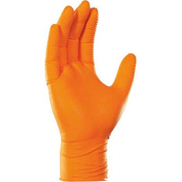 Γάντια Νιτριλίου Έξτρα Αντοχής (Πορτοκαλί, Medium) Σετ 100 Τεμαχίων