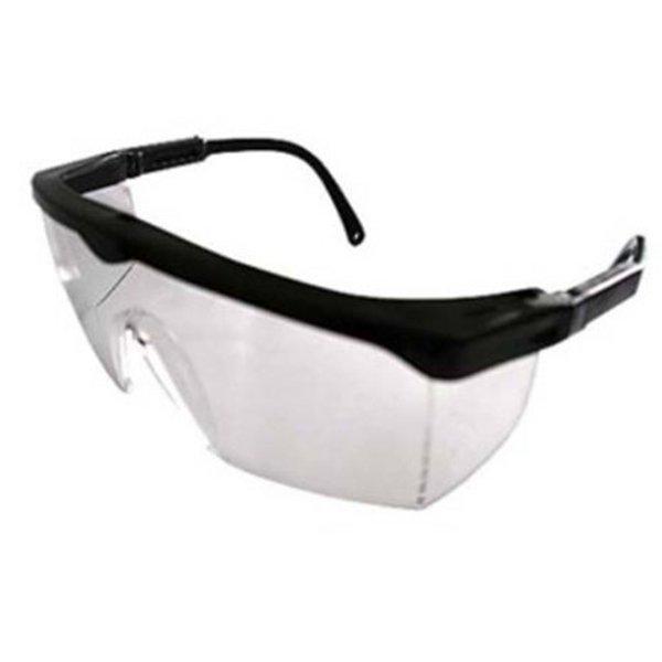 Γυαλιά προστασίας διάφανα με ενισχυμένο φακό αντοχής (Μαύρα)