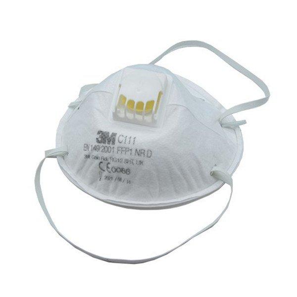 Μάσκα Προστασίας Πολλαπλών Χρήσεων FFP1 με Βαλβίδα - Μοντέλο 3Μ C111