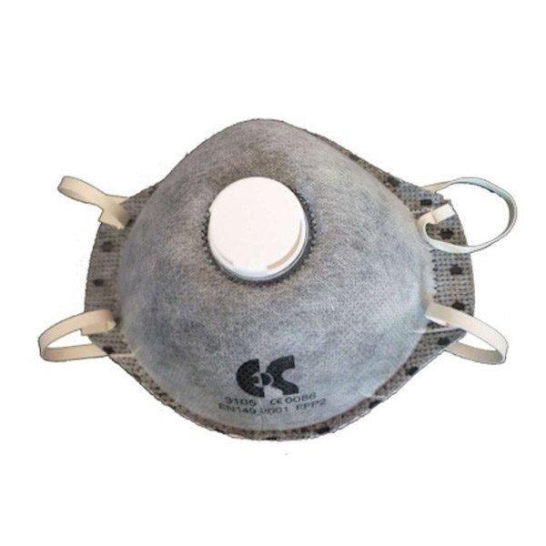 Μάσκα Προστασίας FFP2 Ενεργού Άνθρακα με Βαλβίδα Εκπνοής - Μοντέλο 3105