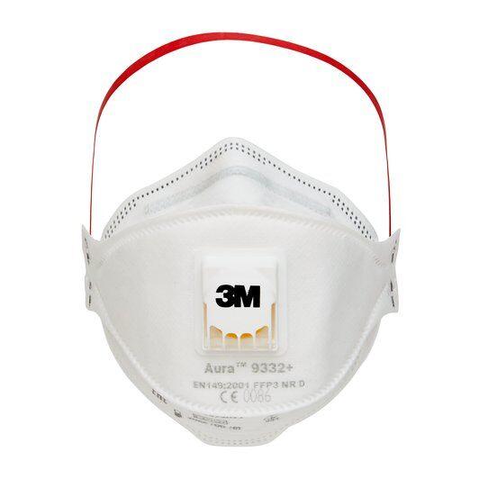 Μάσκα Προστασίας Πολλαπλών Χρήσεων FFP3 - Μοντέλο 3Μ Aura 9332+ με Βαλβίδα